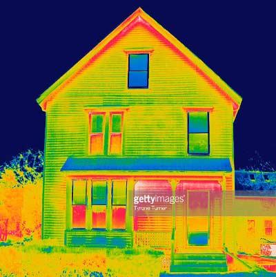 عکس حرارتی برای ممیزی انرژی ساختمان