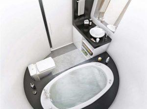 وان و سرويس فرنگي در حمام کوچک