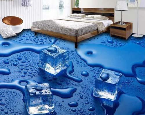 تصویر سه بعدی یخ در کفپوش سه بعدی منزل