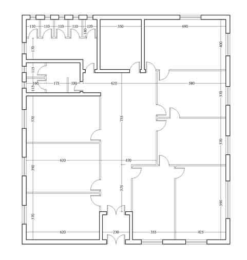 پلان نقشه معماري ساختمان برای ممیزی انرژی تفصیلی در ساختمان