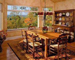طراحی داخلی ناهار خوری با رنگ کرم دیوارها