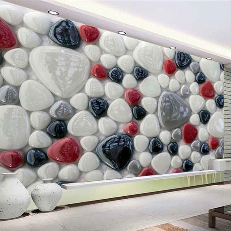 پوستر دیواری سه بعدی با طرح سنگ