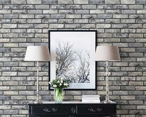 کاغذ دیواری طرح سنگ از انواع کاغذ های دیواری