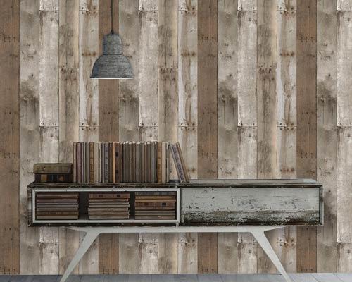 انواع کاغذ دیواری بر اساس طرح مانند کاغذ دیواری طرح چوب