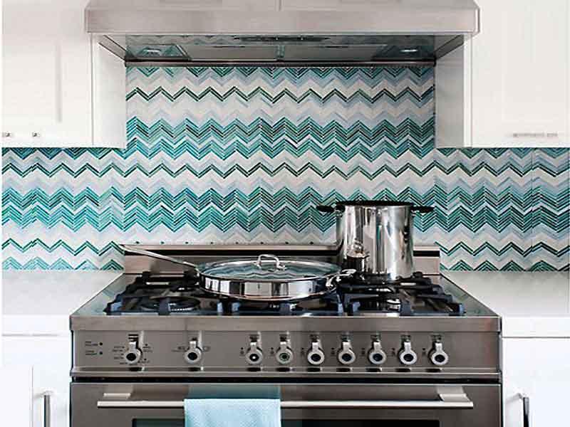 نصب کاغذ دیواری قابل برداشت درآشپزخانه ساختمان