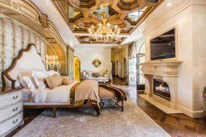 اتاق خواب با شکوه خانه لوکس
