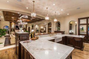 اپن آشپزخانه خانه لوکس مشرف به نشيمن