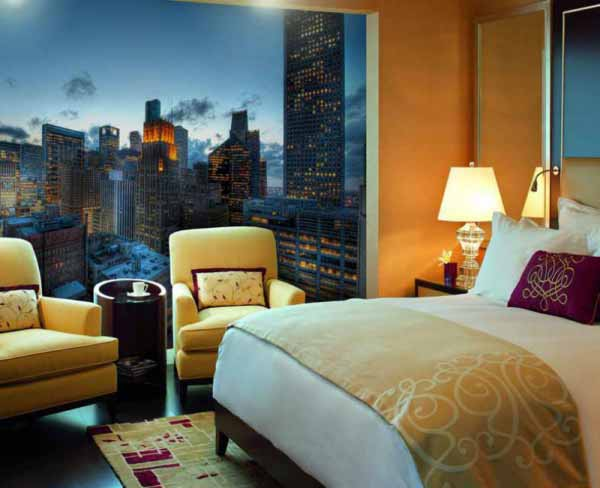 پوستر سه بعدی با تصوير برجهای بلند
