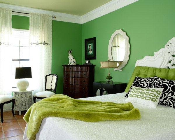 اتاق خواب با رنگ سبز و تاثير رنگ سبز در دکوراسیون داخلی