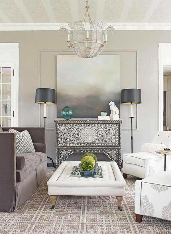 مبلمان با رنگ طبيعي در اتاق با رنگ آميزي طبيعي و تاثير آن در دکوراسیون داخلی