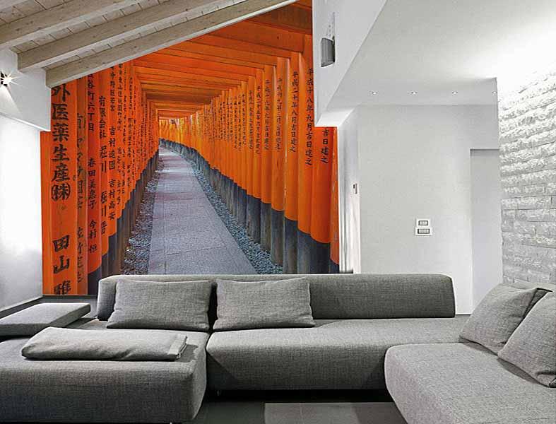 طرح سه بعدی در کاغذ دیواری قابل برداشت