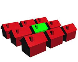 خانه هاي پر مصرف با رنگ قرمز و خانه کم مصرف با رنگ سبز