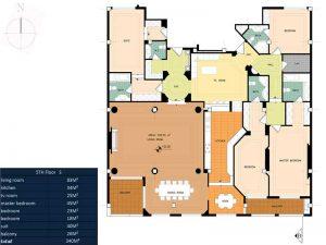 پلان آپارتمان لوکس