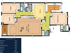 پلان طبقه اول خانه رويايي