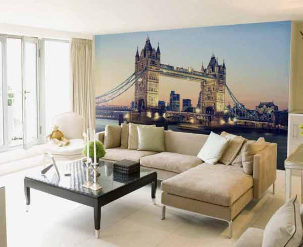 کاغذ دیواری سه بعدی از پل لندن