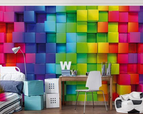 کاغذ دیواری سه بعدی اسپورت برای اتاق خواب نوجوان