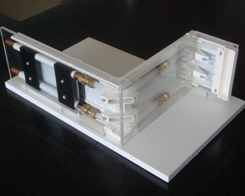 نمای داخلی هیتر قرنیزی baseboard