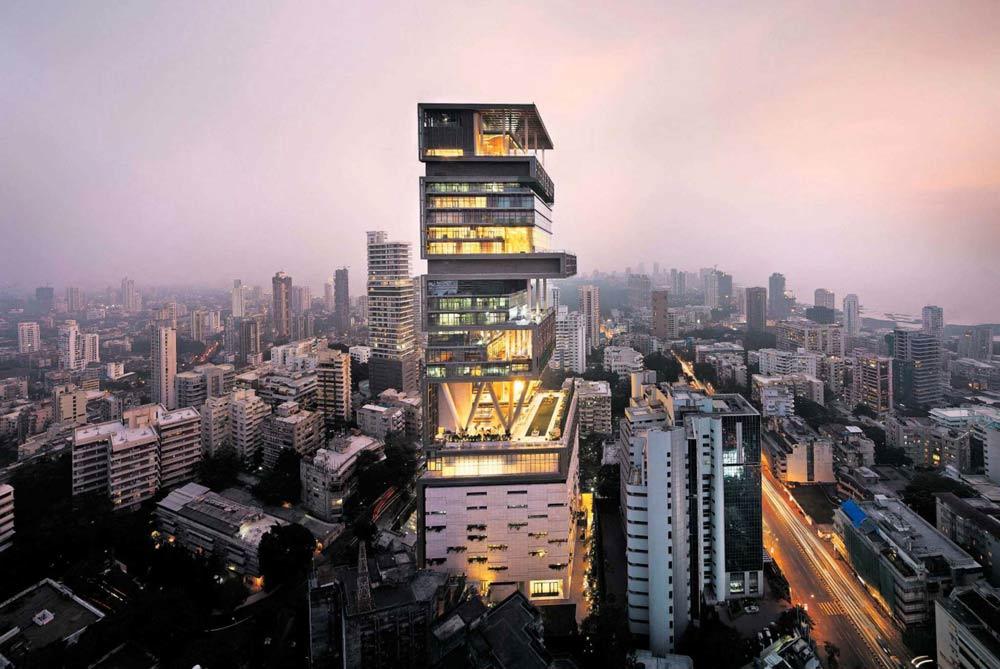 ساختمان آنتيلا رتبه اول گران قيمت ترين خانه های لوکس دنيا را دارد