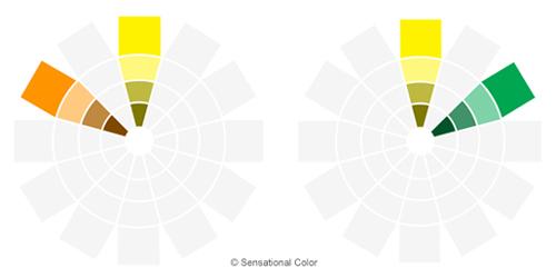 نمودار هارمونی طراحی های جفت در تئوری رنگ