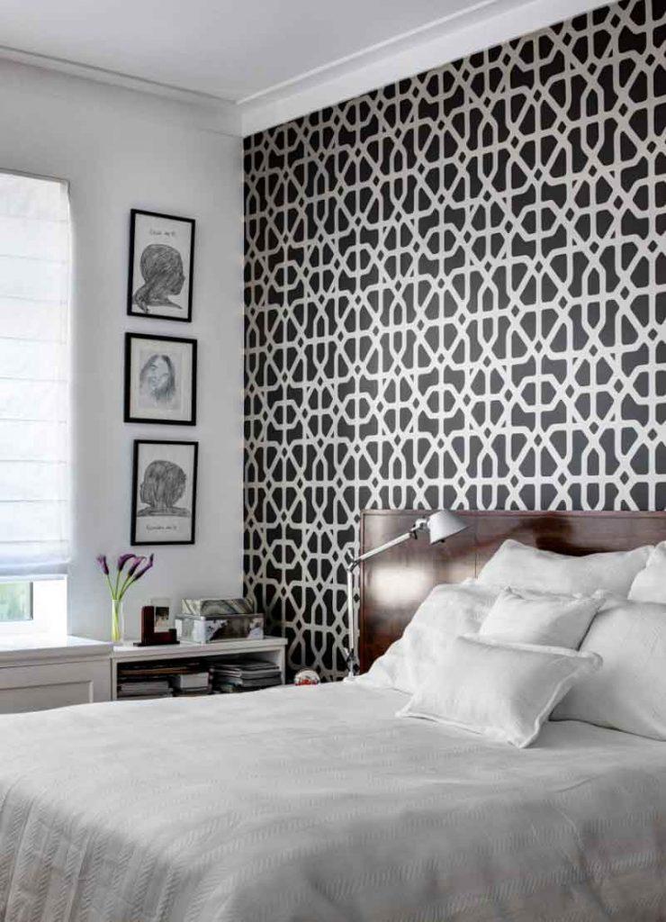 استفاده از کاغذ ديواري در طراحی دکوراسیون اتاق خواب