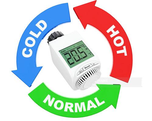 تنظیم دمای مطبوع توسط شیر ترموستاتیک شوفاژ