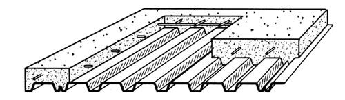 دال مرکب سقف عرشه فولادی