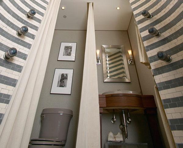 ديواره برج آبگرم در حمام لوکس