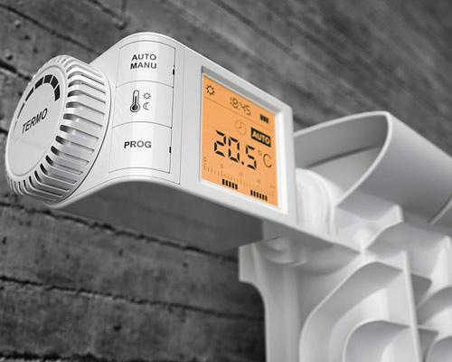 شیر ترموستاتیک الکترونیکی رادیاتور تنظیم دقیق دما صرفه جویی انرژی