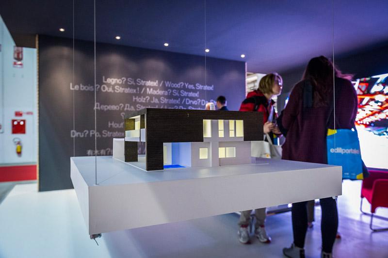 ماکت ساختمان در نمایشگاه ساختمان و معماری میلان