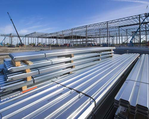 به حداقل رسیدن زمان کار جرثقیل با امکان قرارگیری بسته های سقف عرشه فولادی روی سازه