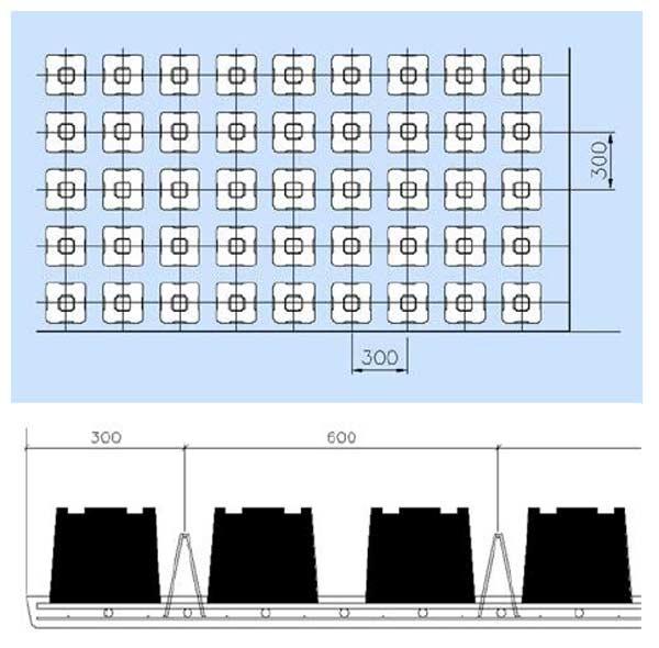 هندسه اجرای سقف ایردک به صورت شماتيک