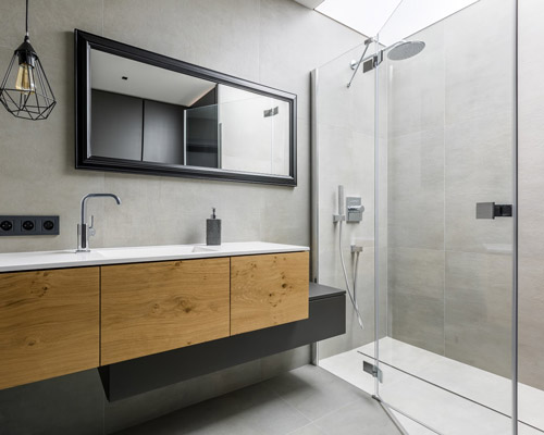 کابین دوش حمام در طراحی دکوراسیون مدرن حمام