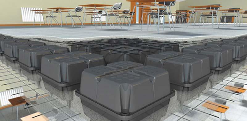 شماتيک سقف یوبوت در کف کلاس