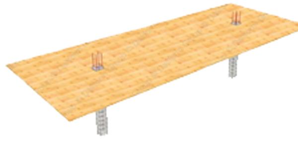 قالب هاي چوبي زير سقف یوبوت