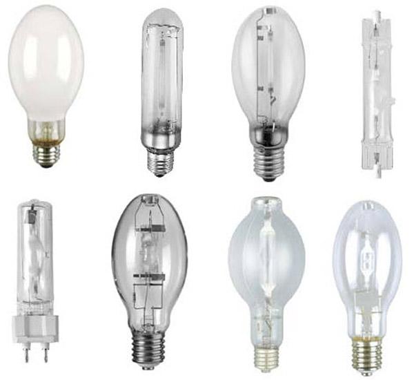 انواع لامپ ها ی تخلیه با فشار بالا