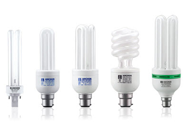 انواع لامپ های کم مصرف در یک سیستم روشنایی