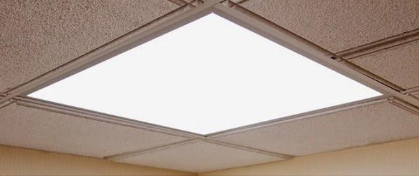 نمونه اي از پنل LED در سقف