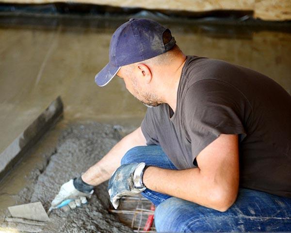 درحال اجرای گرمایش از کف
