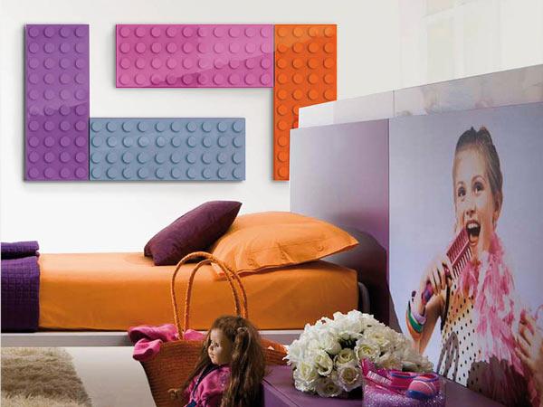 رادیاتور تزئینی که به شکل اسباب بازی لگو طراحی شده اند