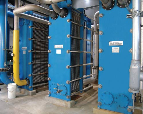 سه انتقال دهنده گرمایی صفحه ای واشردار صنعتی