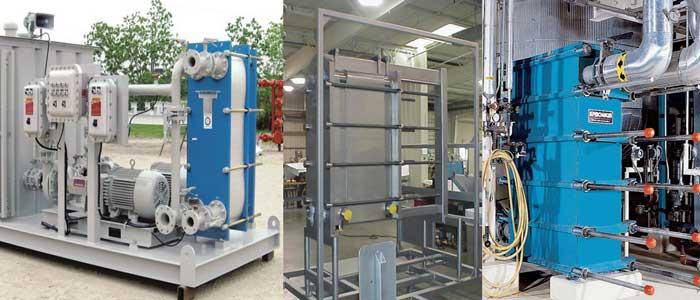 سه انتقال دهنده حرارت صفحه ای صنعتی