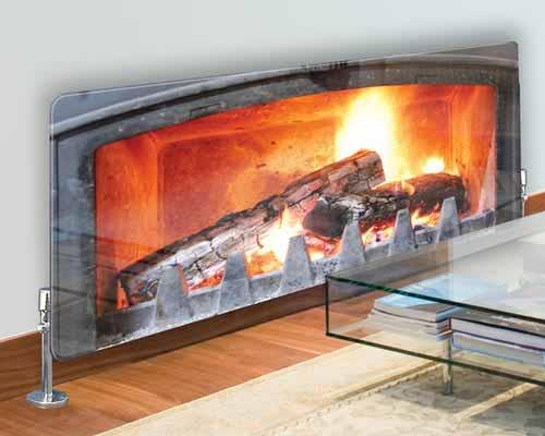 رادیاتور شیشه ای با طرح شومینه
