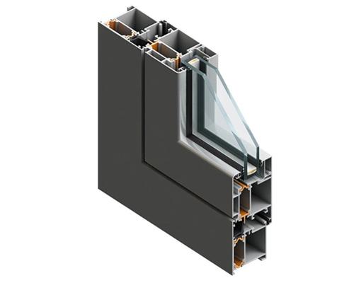 مقطع پروفيل پنجره آلومینیومی ترمال بریک