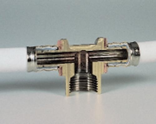 ساختار اتصال پرسی لوله پنج لایه ( PEX-AL-PEX )