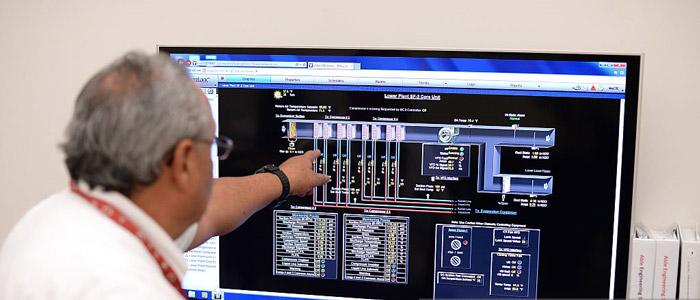 نمايش عملکرد هواساز در سیستم BMS