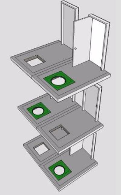 ساختار شوت نجات چند مرحله ای