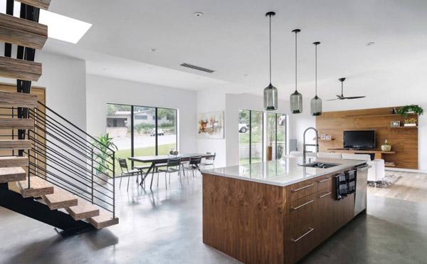 ایجاد چند خط دید در طراحی داخلی آشپزخانه اپن