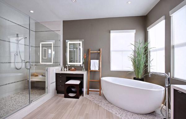 ایجاد دیوار کانونی در دکوراسیون حمام