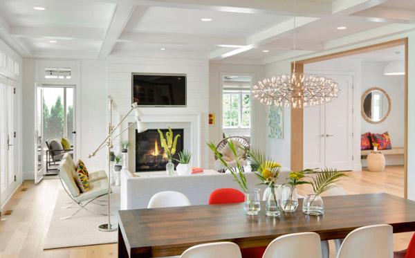طراحی داخلی با چند خط دید به فضاهای مختلف خانه