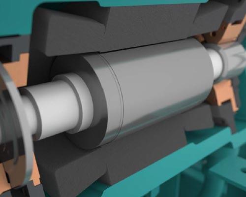 نمونه ای از شفت کمپرسور چیلر تراکمی مغناطیسی